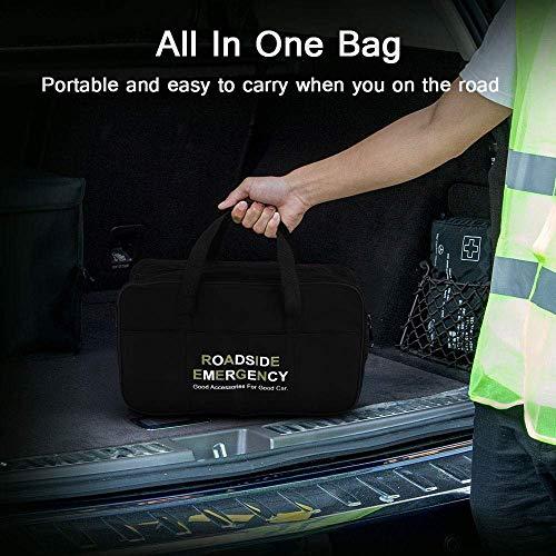 51qEsxgF6HL - Sailnovo Kits de Emergencia del Coche Portátil Botiquin Coche de Asistencia en Carretera Multifuncional 97 en 1