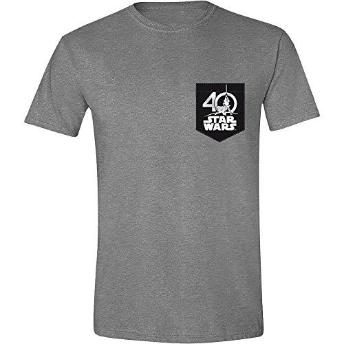 Star Wars - 40 Jahre - T-Shirt | Offizielles Merchandise | Lucas Arts | Walt Disney, Größe:M