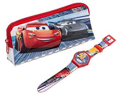 Disney DC303 Jungen-Armbanduhr mit Automotiv. (Lightning Mcqueen Uhr)