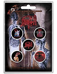 DEATH 5 x 25mm Button badge pack
