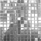 Brushed Silver Stainless Steel Mosaic Tiles Sheets (MT0036) (11 Sheets)