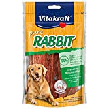 Vitakraft Pure Rabbit, Kaninchenfleisch-Streifen für Hunde, 6er Pack (6 x 80 g)
