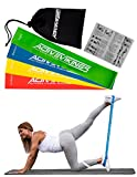 Fitnessbänder Set 4-Stärken by ActiveVikings® - Ideal für Muskelaufbau Physiotherapie Pilates Yoga Gymnastik und Crossfit