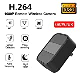 Mini cámara de 4K 2.4G WIFI 1080 Full HD, Soporte 64G TF Tarjeta, camuflada como cargador USB, Infrarroja de Visión Nocturna Teléfono Inalámbrico APP HD USB Home Security Baby Monitor Cámara.