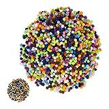 Relaxdays 4000 x Pompons, kleine Bommeln zum Basteln, Mini