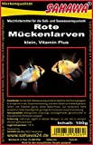 SAHAWA® Rote Mückenlarven Frostfutter, Guppy, Fische, Aquarium (1 kg)