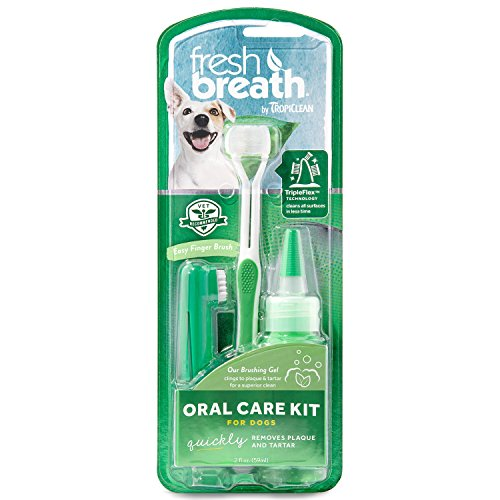 Tropiclean 0645095001299 - Fresh breath oral care kit large  59 ml