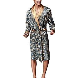 VERNASSA Homme Kimono en Soie Robe de Chambre Peignoir de Bain, Vêtement de Nuit, Satin Pyjama, L-XXL, Multicolor & Fashion Styles ...