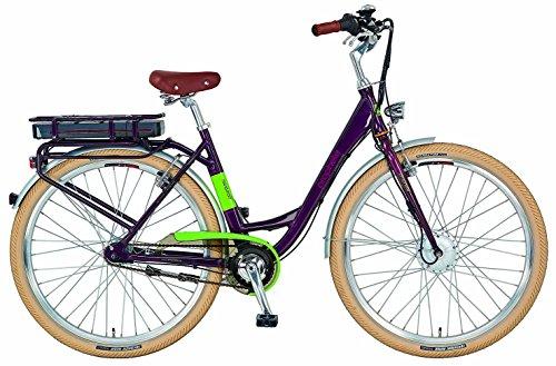 Prophete Damen E-Bike Navigator Flair Elektrofahrrad, Aubergine, 28 Zoll