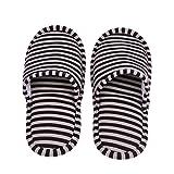 VGEBY 1 Paio Pantofole Pieghevoli Antiscivolo con Sacchetto di Stoccaggio per Casa Volo Albergo Interno ( Colore : Coffee Stripes for Women )