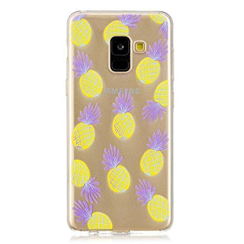 QFUN-Cover-Galaxy-A8-2018-Silicone-Morbido-Trasparente-Custodia-Sottile-Copertura