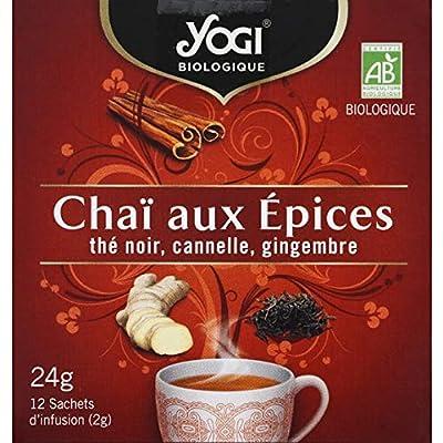 Yogi - Infusion Chaï Aux Épices Thé Noir, Cannelle, Gingembre - 20G - Livraison Gratuite Pour Les Commandes En France - Prix Par Unité