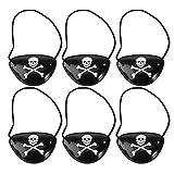 Pirate Captain Eyes Patches Skull Crossbone Benda per Bambini Favori di Partito Party Bags Dressing up Custome Accessori, 6 pezzi