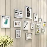 [LOVES] pcs Schwarz Bilderrahmen Set Foto-Wand-Polymer-Foto-Rahmen-elegantes minimalistisches Schlafzimmer / Wohnzimmer-Wand-Dekoration europäische 13 Foto-Rahmen-Kombinations-Hintergrund-Wand