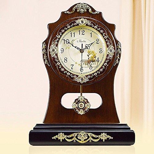 Lili Europeo di legno solido pastorale creativo vintage King size mute ornamenti elettronico orologio orologio in legno massiccio orologio,un