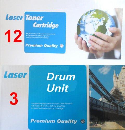 12x compatibile tn2000/tn2005cartuccia toner laser e 3x unità tamburo dr2000/dr2005compatibile per stampanti brother dcp 7010l 70207025fax 2820282529102920hl2020hl2030hl2035hl2037hl2037e hl2040hl20507225hl2070n mfc 74207820