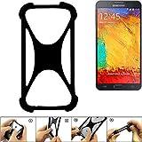 K-S-Trade Paraurti per Cellulare Samsung Galaxy Note 3 Neo 3G Paraspruzzo in Silicone Custodia Cover Bumper per Astuccio TPU Softcase Protector Nero (1x)