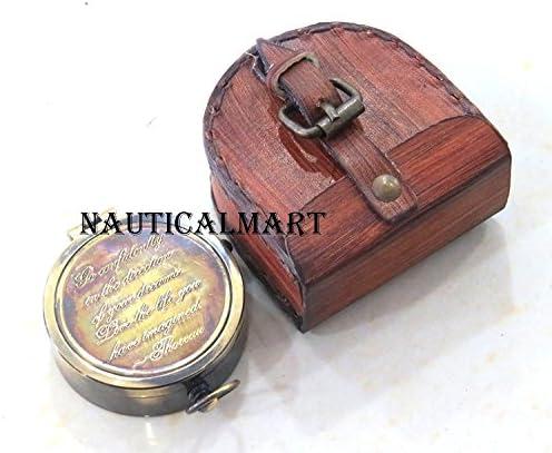 Thoreau's Go Confidently Poem Engraved Vintage Pocket Brass Compass -Christmas Gift By Nauticalmart | L'exportation