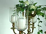 Dekowelten 18cm B.Ware!!! Großer Glasaufsatz klar/crackliert Glas Teelichthalter f. Kerzenleuchter Teelichtaufsatz