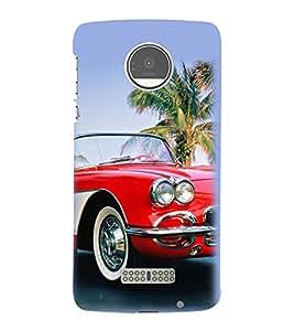 PrintVisa Designer Back Case Cover for Motorola Moto Z :: Motorola Moto Z Droid in USA (Stylish car design :: Amazing car design :: Famous car design :: Red color car design :: Speed car design)