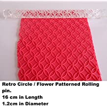 Acrylic Patterned / Embossing / Textured Rolling Pin. Retro Circle / Flower Design