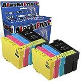 Alaska 8 Druckerpatronen Komp. Für Epson 27Xl 27 XL T27XL Multipack für Workforce WF 3620 3640 7610 7620 7110 WF3620 WF3640 Patronen Tintenpatronen