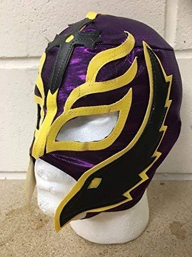 (Wrestling Rey Mysterio - Lila - Reißverschluss Maske - Brand Neu - WWE Kostüm Verkleidung Kostüm Outfit)