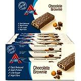 Atkins ADV Chocolate Brownie Barritas - Paquete de 16 barritas x 60 gr - Total: 960 gr