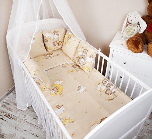 A nido Baby esterni letto con bordo 210 cm Design: orsetto sul scala letto Colore Beige Paracolpi con protezione rinforzata sugli angoli casco protettivo per arti marziali per bambini letto caratteristiche