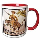Mensuk mug_149371_4 Vintage Travel Adventure Join the Marines Recruiting Poster Two Tone Black Mug, 11 oz, Black/White