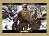 3D 'Call of Duty: Modern Warfare 2Poster mit Zubehör m. MDF-Rahmen 3D Eiche