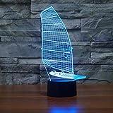Regalo notturno di Halloween del dispositivo visivo visivo di tocco di navigazione dello scrittorio della luce notturna della luce notturna 3D