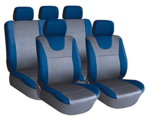 XtremeAuto© Full Set Of Touring Seat Covers Navy Blue for
