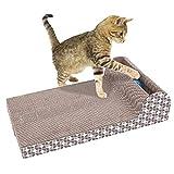 Cat Scrath Pads, PET gatto giocattolo Scrath grande piastra orizzontale ondulato tiragraffi divano letto cuscino lounge cartone Toy Claws Care interattivo giocattolo per gatto Scrath e riposo