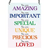 Dorothy Spring You Are Amazing Important Special Unique Precious Loved Inspirational Wall Metal Small Plaque Sign Size 4x3 inch