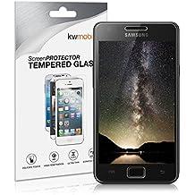 kwmobile Pellicola protettiva vetro temperato per Samsung Galaxy S2 S2 PLUS - Proteggi schermo trasparente in vetro Protezione Ultra resistente