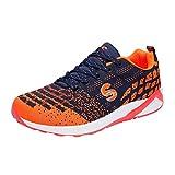 Männer Active Sportschuhe Trail Running Schuhe Im Freien Mesh Atmungsaktiv Leicht Walking Athletisch Casual Turnschuhe Orange 36 EU