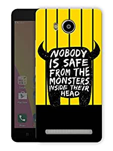 """Humor Gang funny monster quote Printed Designer Mobile Back Cover For """"Lenovo A7700"""" (3D, Matte Finish, Premium Quality, Protective Snap On Slim Hard Phone Case, Multi Color)"""