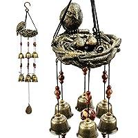 Monsiter Windspiele mit Cooper Glocken für Innen- und Außendekoration - Vogelnest