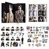 BTS Photo Gift Set Perfect for Army Decoration(55PCS BTS Stickers+BTS Newest Album Photobook)