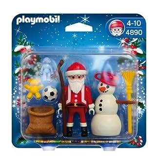 PLAYMOBIL Navidad – Papá Noel con muñeco Nieve (4890)