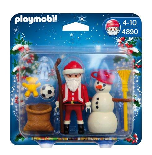PLAYMOBIL Navidad - Papá Noel con muñeco Nieve (4890)