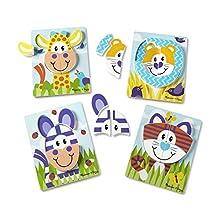 Melissa & Doug 40131 Safari Animal Wooden Puzzle Set