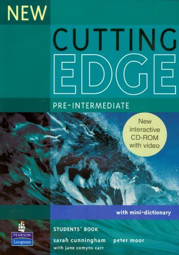 New Cutting Edge Pre-Intermediate Students (Book & CD ROM) by Sarah Cunningham (2007-02-08)