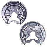 2x Deckblech Ankerblech Schutzblech Bremsscheibe Bremse hinten links + rechts,