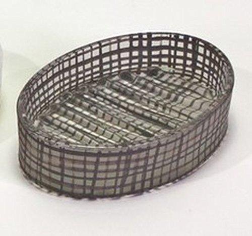 Unbekannt Seifenschale Seifenteller Oval Glas Braun Gemustert Karomuster Retro Look -