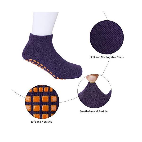 MaoXinTek Calcetines Antideslizantes para Niños Pequeños Algodón Lindo con Puños, Calentar 8 Pares de Zapatillas… 3