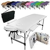 Vivezen  Table de massage pliante 2 zones en aluminium +...