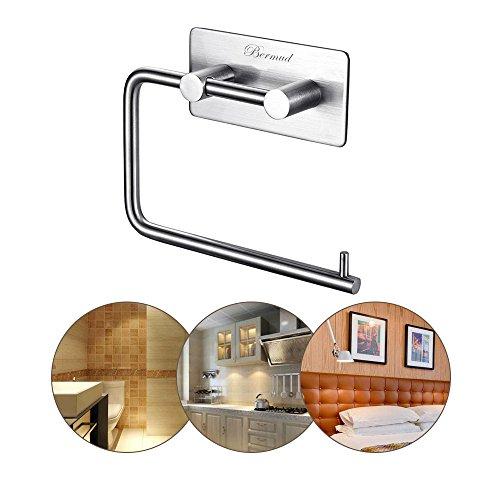 bermud edelstahl selbstklebend toilettenpapierhalter papierrollenhalter handtuchhalter. Black Bedroom Furniture Sets. Home Design Ideas