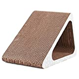 NDY Pet Toy Brown Cat Sharpener Play Luxury Hollow Triangle Tunnel Corrugated Paper Cat Scratch Board